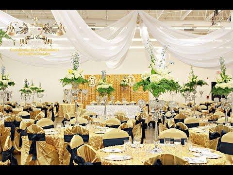 Faos events decoracion de boda color dorado y azul marino for Decoracion petrole azul