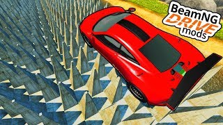 1000 SPIKES VS. SPORTWAGEN?! - BeamNG Mods #05 [Deutsch/HD]