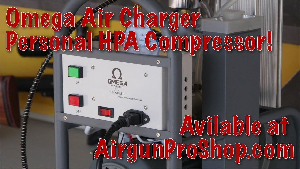 Omega Air Charger Personal PCP / HPA Compressor, fully self-contained with  auto-shutoff