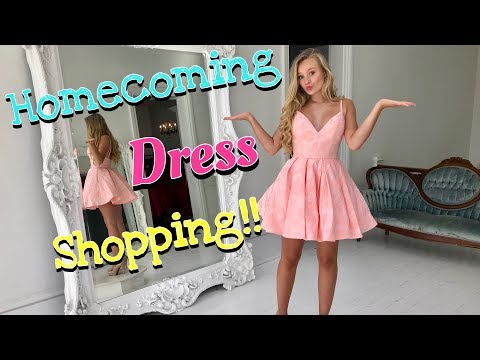 Shopping For The Perfect Homecoming Dress | Haul 2019 with Ella