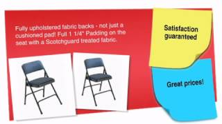 Fabric Upholstered Premium Padded Folding Chair - Ofconcepts.com
