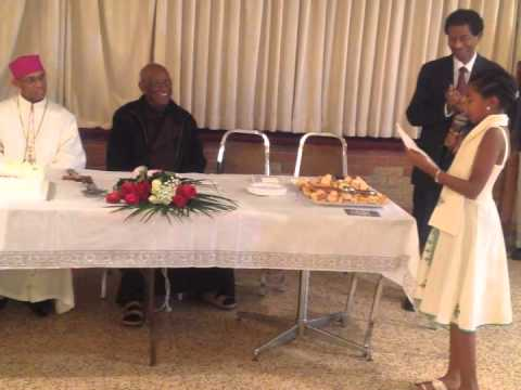 Naomi Welcomes Bishop Kidane