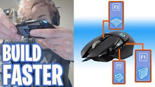 Ninja Shows His New Fortnite Mouse Keybinds for Insanely Fast Building (2018) Logitech g502 | Ep9