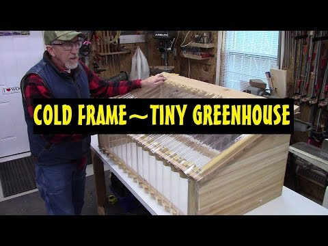 Awesome Cold Frame ~Tiny Greenhouse~ DIY