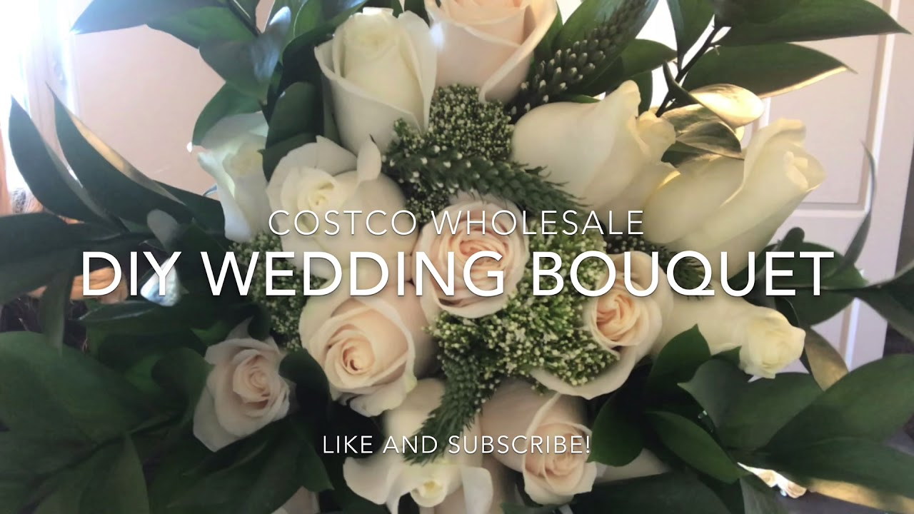 Costco Flowers Diy Wedding Bouquet Youtube