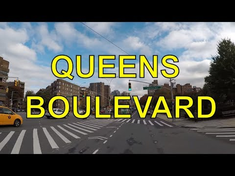 Cycling Queens Boulevard in its entirety from Long Island City to Jamaica, Queens NYC