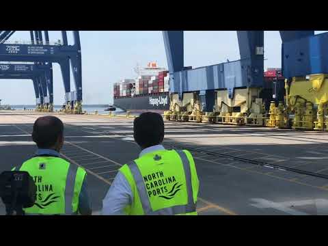 NC Gov. Cooper at the Port of Wilmington