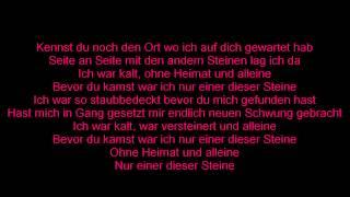 Sido - Einer dieser Steine (ft. Mark Forster) Lyrics