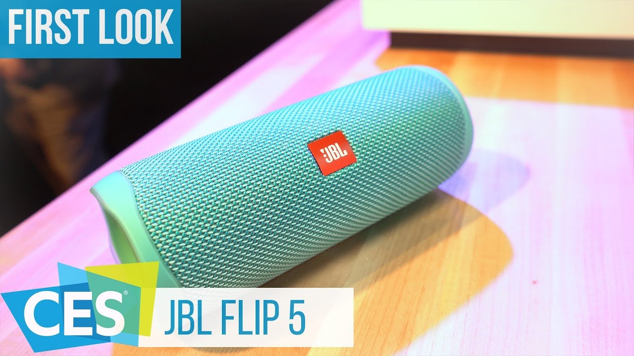 JBL Flip 5 Bluetooth Speaker First Look at #CES2019