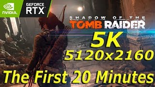 Zapętlaj Shadow Of The Tomb Raider - 5K 5120x2160 60fps - RTX2080ti - The First 20 Minutes | UltrawidePCGaming