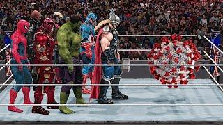 WWE 2K19 Giant Avengers Destroy Coronavirus!