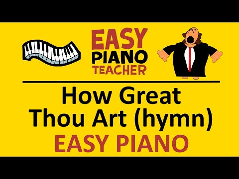 How to play How Great Thou Art on piano keyboard (hymn) Easy tutorial video from #EPT