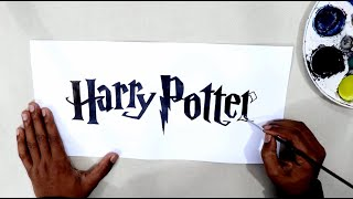 How to draw the Harry Potter logo @Harry Potter