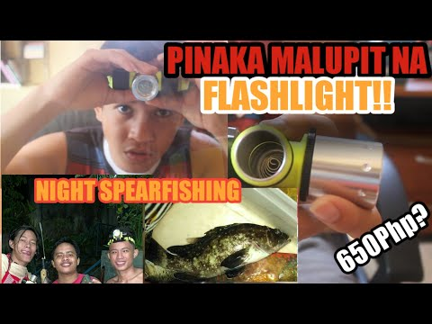 THE BEST BUDGET DIVING FLASHLIGHT FOR NIGHT SPEARFISHING ASAFEE!!