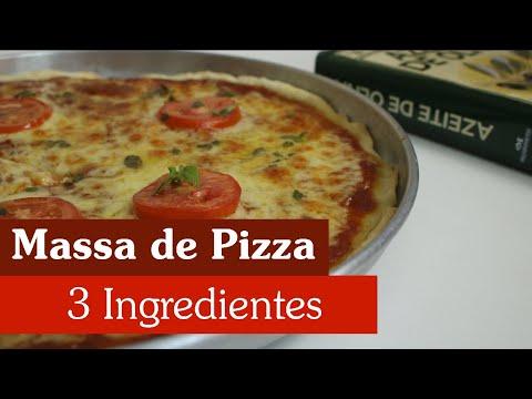 MASSA DE PIZZA - A MAIS FÁCIL (SÓ LEVA 3 INGREDIENTES) [ Aqui na Cozinha ]