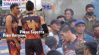 Tarkam terbaru Dimas Saputra ft Dony Haryono hebohkan penonton Garut   Agam Jaya Cup