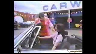 Girl In Convertible At The Car Wash