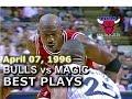 April 07 1996 Bulls vs Magic highlights