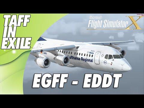 FSX - Quality Wings RJ85 - Cardiff EGFF - Berlin EDDT