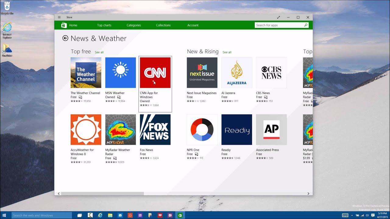 示範(10- 1) Windows 市集 (舊版示意,請開啟新版市集對客戶展示) - YouTube