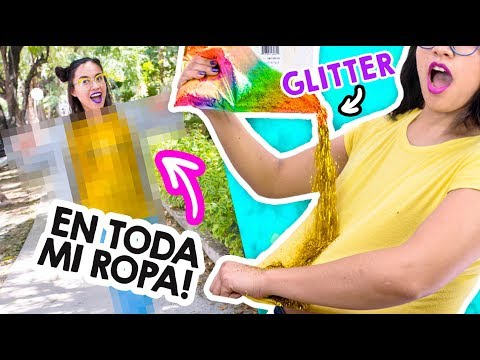I FILL ALL MY CLOTHES with GLITTER !! and so I went to the STREET 😱✨ Craftingeekиз YouTube · Длительность: 9 мин39 с