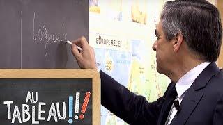 François Fillon explique les quotas d'immigration en 60 secondes au tableau