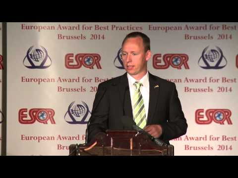 Kao Corporation from Japan received the ESQR's European Award for Best Practices 2014 in Brussels
