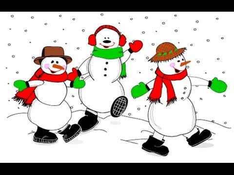 Анимация снеговики танцуют, юбилей маме