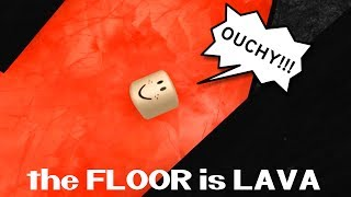 THE FLOOR IS LAVA IN ROBLOX! | RADIOJH GAMES & GAMER CHAD