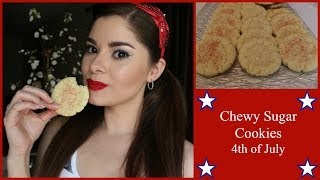 The Best Chewy Sugar Cookies- Fourth Of July