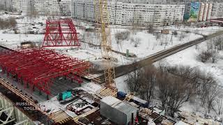 Установка перекатного каркасно-тентового укрытия / 974 километр трассы М-5 «Урал» г.Тольятти