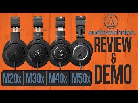 Audio-Technica ATH M50X, M40x, M30x, M20x M Series Headphone Review Demo Comparison