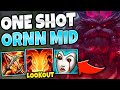 *DODGE R OR DIE!* THIS FULL AP ORNN MID BUILD HAS CRAZY AOE DAMAGE - League of Legends