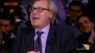 Vittorio Sgarbi imita Virginia Raggi: 'L'ho detto a Beppe, ma vaffanc**o Beppe Grillo del ca**o!'
