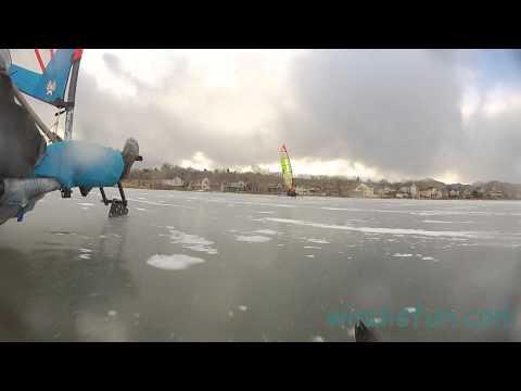 Ice Sailing Boedecker Lake, New Years Day 2014