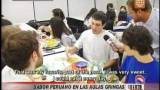 Reportaje Cuarto Poder (subtitulado) - Sodexo lleva el sabor peruano a las aulas extranjeras