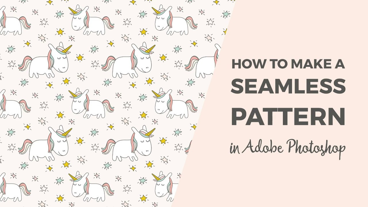 how to make a seamless pattern in photoshop youtube