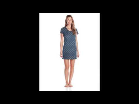 Nautica Sleepwear Women's Knit Anchor Dot Printed Chemise, Maritime Navy, Medium