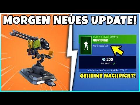 Epic Games TROLLT uns! | Morgen Neues Update mit Geschützturm! - Fortnite Battle Royale