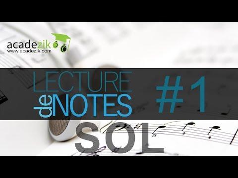 Apprendre à lire les notes de musique - Partition Clé Sol Exercice 1 (vidéo solfège)
