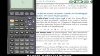 TI-83/84 - Using 1 Vąr Stats to Find Mean and Standard Deviation