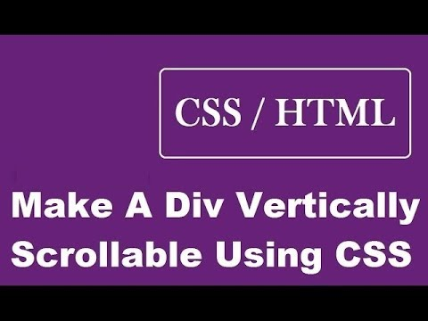 How To Make A Div Vertically Scrollable Using CSS