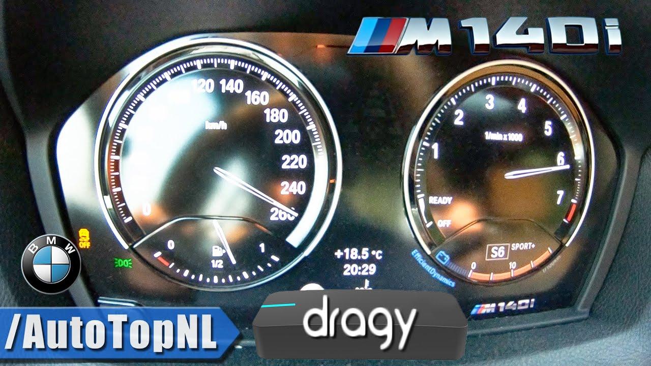 DRAGY GPS Performance BOX 100-200km/h & TOP SPEED w/ BMW M140i by AutoTopNL