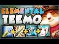NEW ELEMENTAL TEEMO! THE ULTIMATE HYBRID TEEMO BUILD! TEEMO SEASON 8 TOP GAMEPLAY! League of Legends