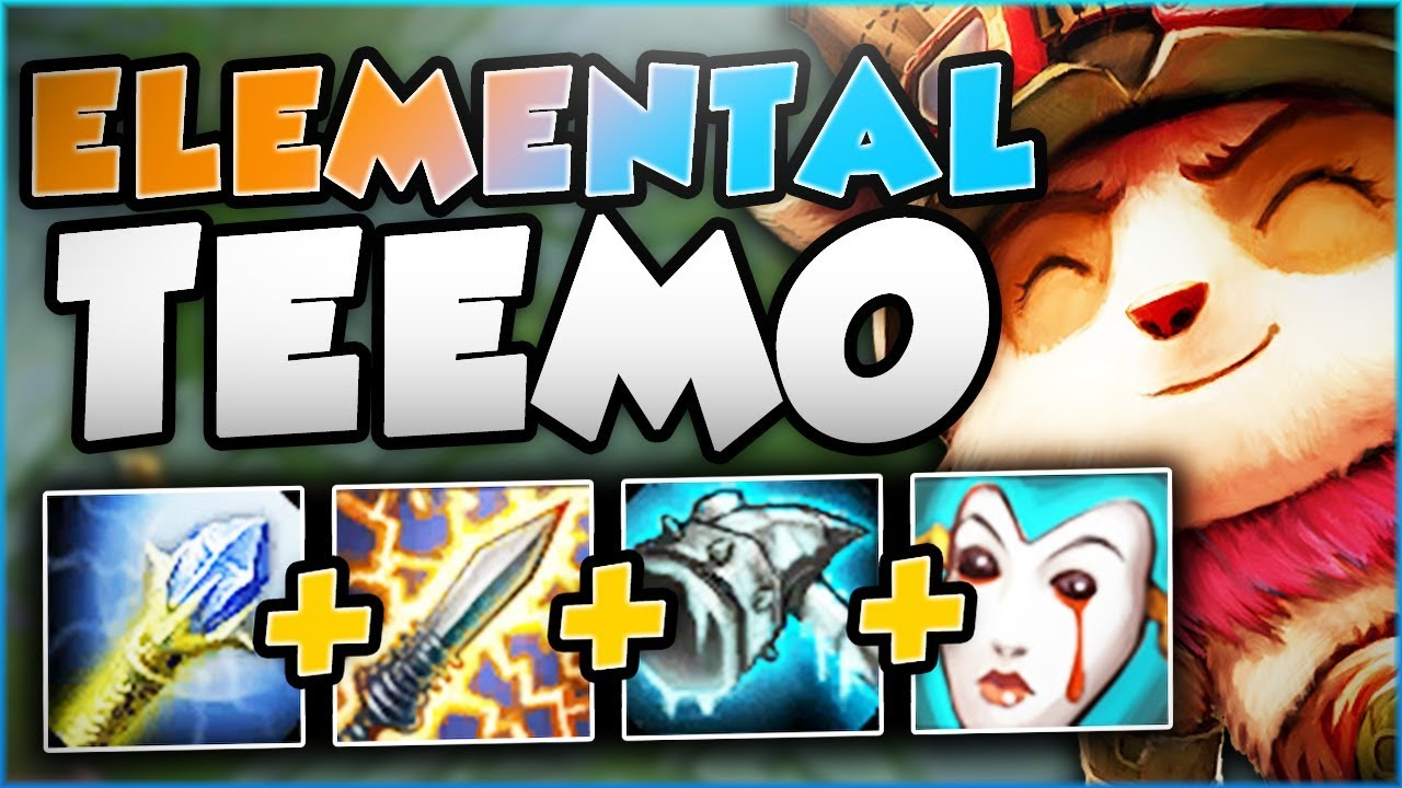 New Elemental Teemo The Ultimate Hybrid Teemo Build Teemo Season 8 Top Gameplay League Of Legends Youtube