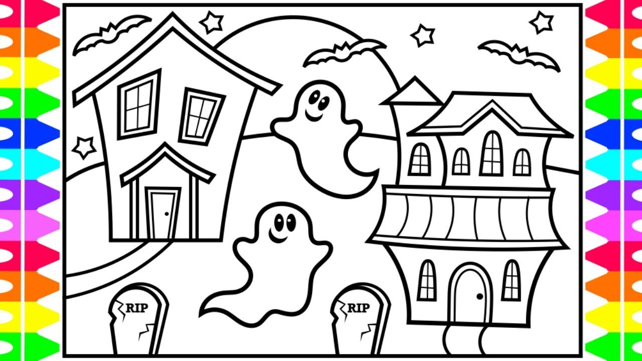 How to Draw a Halloween Ghost for Kids 👻🖤👻🖤Halloween Ghost ...