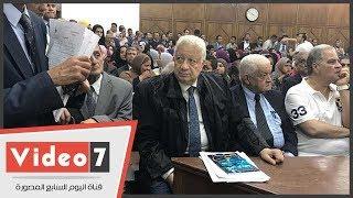 وقفة بقيادة مرتضى منصور أمام مجلس الدولة ضد قرار تشكيل اللجنة المالية