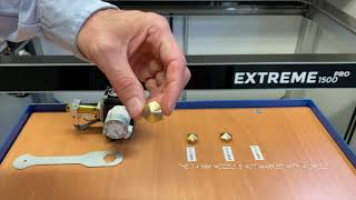 How to recognize the nozzle diameter - Builder Extreme PRO series