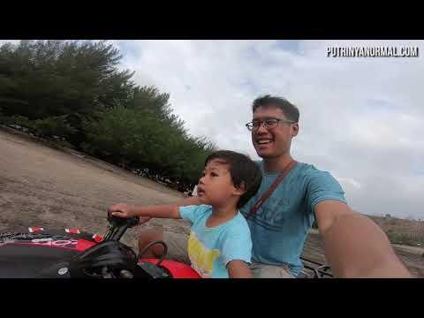 Liburan Ke Pantai Serang, Raka Naik ATV! Seru Banget!