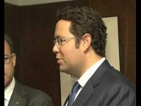 Jihad Al Wazir, governor, Palestine Monetary Authority, Hashim Shawa, chairman, Bank of Palestine